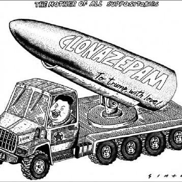 الصواريخ الكورية الشمالية عن موقع «كارتون سياسي»