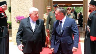 معصوم والعاهل الأردني يؤكدان أهمية تأمين الطريق الدولي ومساعدة الجالية العراقية