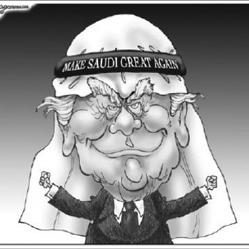 ترامب القادم من الصحراء عن موقع «كارتون سياسي»