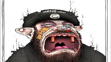 داعش يبكي من اجل النكاح عن موقع «كارتون سياسي»