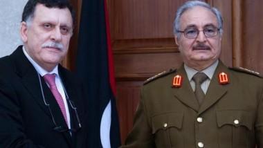 لقاء بين حفتر والسراج في أبو ظبي لبحث الأزمة الليبية