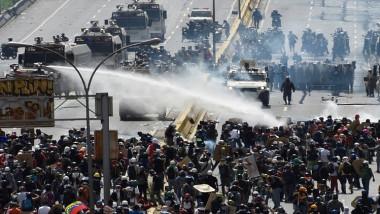 50 جريحاً بمظاهرات المعارضة في فنزويلا