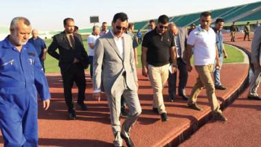 «عبطان» يزور ملعب ميسان ويطّلع  على مراحل التشطيبات النهائية