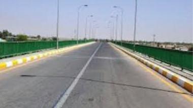 وزيرة الإعمار تفتتح مشروع إعادة إعمار جسر المثنى شمالي بغداد