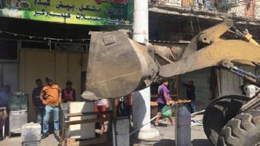 أمانة بغداد تنفّذ حملةً شاملةً لإزالة التجاوزات