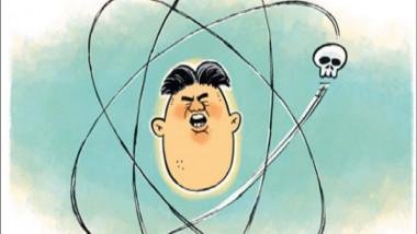 السلاح النووي لكيم جونك اون عن موقع «كارتون سياسي»