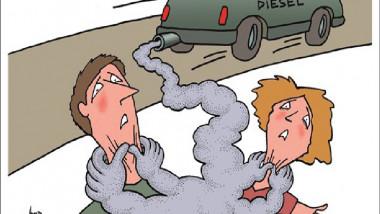 انبعاثات الديزل عن موقع «كارتون سياسي»