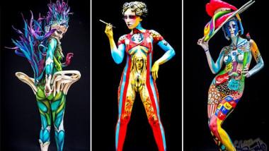 انطلاق المهرجان العالمي للرسم على الأجساد