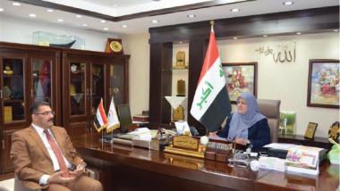 وزيرة الصحة تؤكد على تعزيز الخدمات الطبية في محافظة نينوى