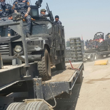 قطعات الشرطة الاتحادية تصل إلى مشارف تلعفر تمهيداً لتحريره