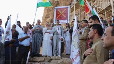 أتباع الديانة الزرادشتية في الاقليم يقيمون مراسيم عهد الولاء للنار