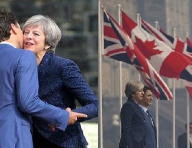 ماي وترودو يتفقان على خطط للانتقال الاقتصادي السلس بين بريطانيا وكندا