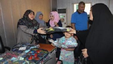وزارة العمل تشارك اليتامى فرحتهم بالعام الدراسي الجديد