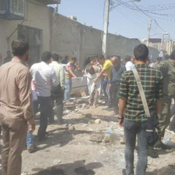 18 قتيلا وجريحا غالبيتهم عراقيون بانفجار انبوب للغاز في قم