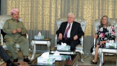 معصوم وبارزاني يقرران ارسال وفد رفيع المستوى إلى بغداد