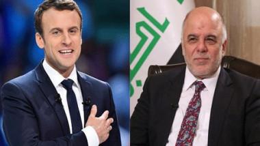 العبادي يقبل دعوة ماكرون لبحث القضية الكردية في باريس