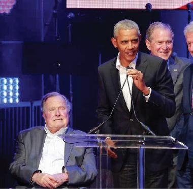 خمسة رؤساء أميركيين في حفلة موسيقية