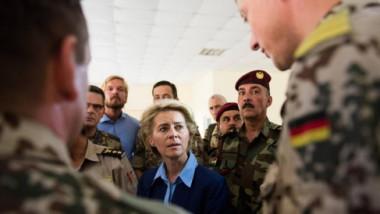 وزيرة الدفاع الالمانية يعلن ايقاف البرنامج العسكري في اربيل دعما لوحدة العراق
