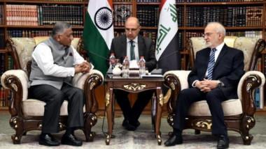 الجعفري ووزير هندي يبحثان مصير مختطفين وفتح قنصلية في البصرة
