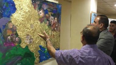 افتتاح معرض الفن التشكيلي الأول  لجماعة (لون وفرشاة) في صلاح الدين