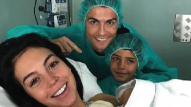 كريستيانو رونالدو يرزق بمولوده الرابع