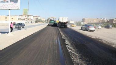 إنجاز أعمال الصيانة الطارئة لمشاريع الطرق في محافظة كربلاء