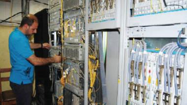 اتصالات الرصافة تقوم باصلاح عوارض الشبكة الهاتفية الارضية