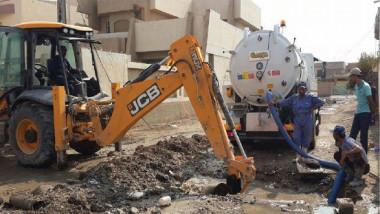وزيرة الإعمار تطلع على سير العمل في مشروعي  مجاري الحسينية وماء الزهور المركزي
