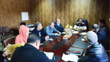 اجتماعات تنظيمية فنية مع اللجان المنفذة وممثلي الاتحادات والإعلام