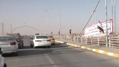 افتتاح جسري القاسم وعمر بن عبد العزيز في الأنبار