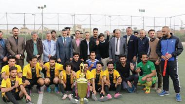 كلية «الأمام الكاظم» تنظم بطولة (لبيك يا عراق) بخماسي الكرة