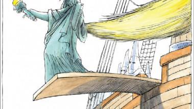 ترامب ونصب الحرية عن موقع «كارتون سياسي»