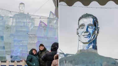تمثال لرونالدو يسبب استغراب نشطاء السوشيال ميديا