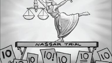 جمباز العدالة عن موقع «كارتون سياسي»
