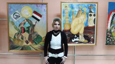 مروة الحائك: لوحاتي تنتصر للمرأة وتوثّق نصرنا العظيم على الإرهاب