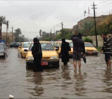 الأمطار تسببت بفيضانات غير مسبوقة في جميع مناطق العراق