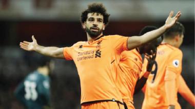 محمد صلاح أسرع لاعب في تاريخ ليفربول يسجل 20 هدفاً خلال موسم واحد
