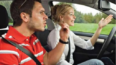 أغلب المشاحنات الزوجية تحدث في السيارة