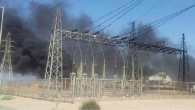 استهداف محطة كهرباء النعيرية في بغداد الجديدة