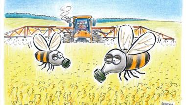 النحل في مواجهة المبيدات الحشرية عن موقع «كارتون سياسي»
