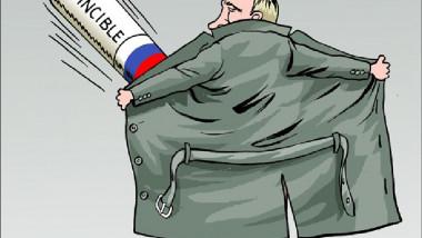 بوتين الذي لايقهر عن موقع «كارتون سياسي»
