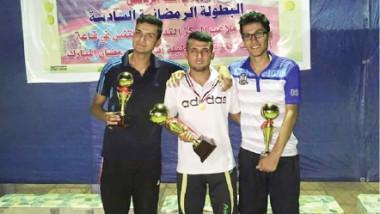 حسين الشكري يفوز بلقب  بطل التنس في بابل