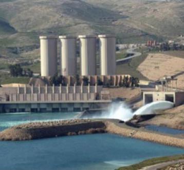 «الجنابي» يبحث مع الفيلق الأميركي وتريفي  الإيطالية استمرار صيانة سد الموصل