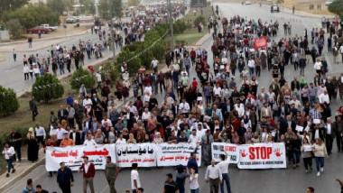 الملاكات التدريسية تعاود التظاهر مطالبة بإلغاء نظام الإدخار الإجباري