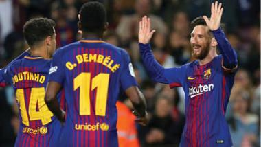 برشلونة يجلد ليغانيس بـ»هاتريك» ميسي