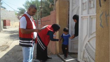 تواصل حملات اللقاح ضد شلل الأطفال في ديالى والموصل والنجف