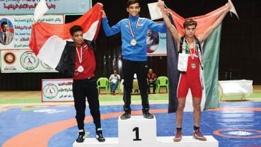 العراق يتوّج بطلاً لمنافسات العرب بالمصارعة  للناشئين