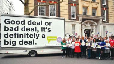 حملة لإجراء استفتاء شعبي بشأن «بريكست»