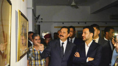عبطان يحضر معرض الخط والزخرفة  في دائرة ثقافة وفنون الشباب