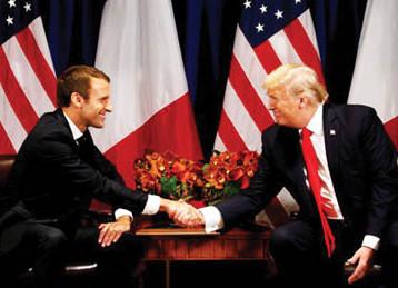 ماكرون يزور واشنطن لمناقشة القضايا الخلافية مع ترامب